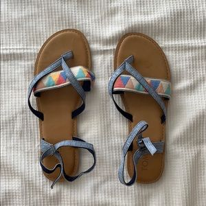 Brand new size 8 1/2 Toms Sandals.